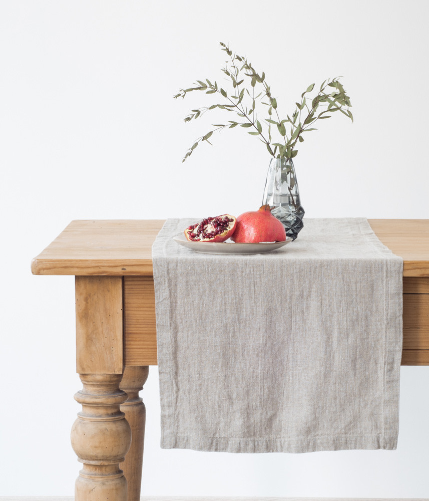 Natural Table Runner In